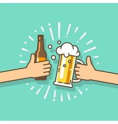 Design element beer party festival vector