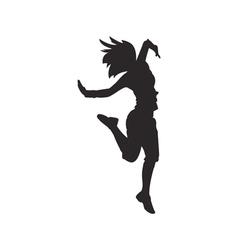 Hip hop dancer silhouette vector
