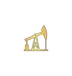 oil pump computer symbol vector image vector image