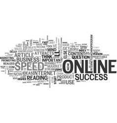 what attracts online success text word cloud vector image vector image