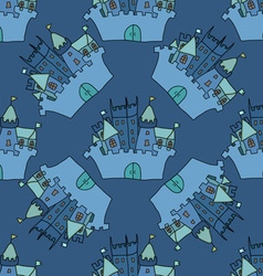 Castle seamless pattern flag fortress vector image vector image