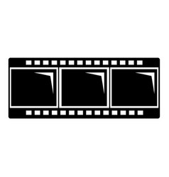 film strip icon simple black style vector image vector image
