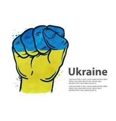 fist flag Ukraine Kiev vector image