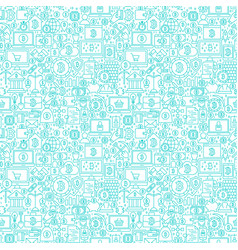 line cryptocurrency white seamless pattern vector image