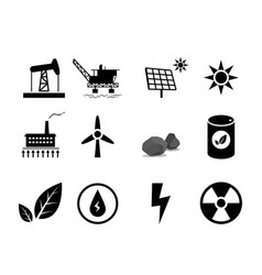 set of electricity generation icon for infographic vector image vector image