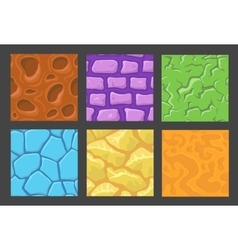set of pattern for game background stone vector image vector image