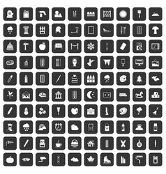 100 drawing icons set black vector image