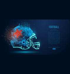 abstract american football helmet rugby vector image
