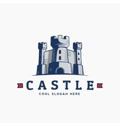 Abstract Castle Label Sign or Logo vector image