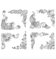 Abstract pattern a tattoo henna vector