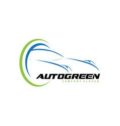 auto green logo design vector image