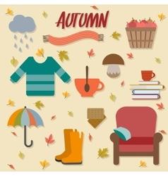 Autumn objects vector