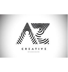 Az lines warp logo design letter icon made vector