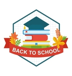 back to school university hat logo vector image