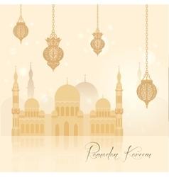Beautiful ramadan kareem background vector