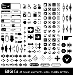 Big set of design elements vector image