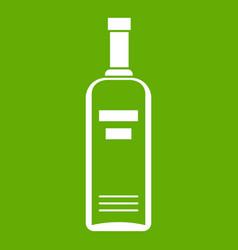 bottle of vodka icon green vector image