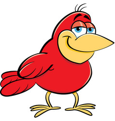 cartoon smiling bird vector image