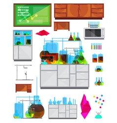 Chemical Lab Elements Set vector