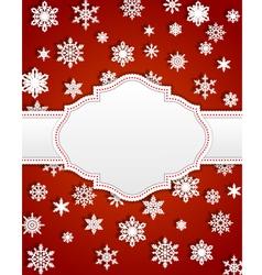 Christmas invitation vector image