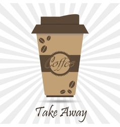 Coffee take away vector