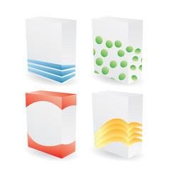 color poduct boxes vector image