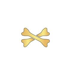 Crossed bones computer symbol vector