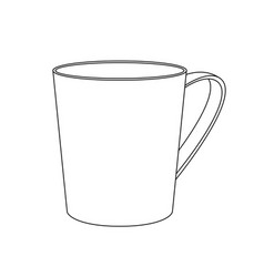 cup outline icon vector image