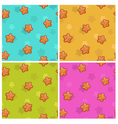 Cute colorful seamless pattern set vector