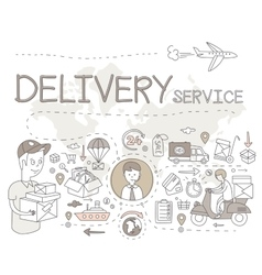 Delivery Service Infographics vector