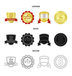 Design of emblem and badge icon collection vector