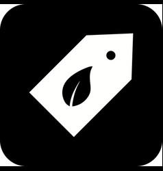 eco label icon vector image