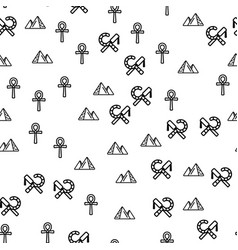 Egypt symbols and sight seamless pattern vector