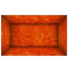 empty futuristic room with red orange walls vector image