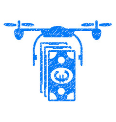 Euro drone banking grunge icon vector