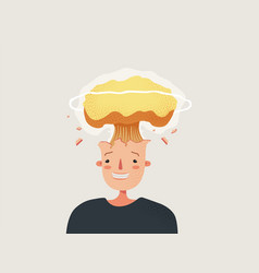 explosion head strong stress and information vector image