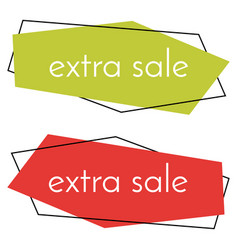 Extra sale green and red banner vector