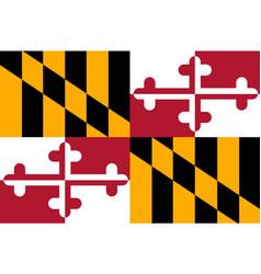 Flag of maryland usa vector