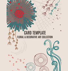 floral magical greeting invitation card template vector image