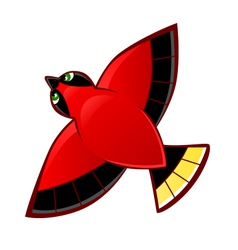 Flying red bird vector image