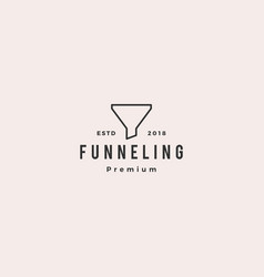funneling logo icon vector image