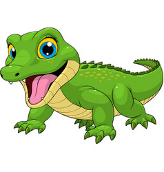Funny crocodile baby cute vector