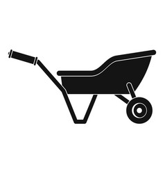 garden wheelbarrow icon simple style vector image