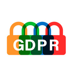 General data protection regulation padlock icon vector