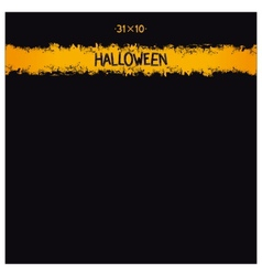 Halloween grunge template vector image