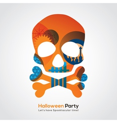 Halloween Party Skull vector image vector image
