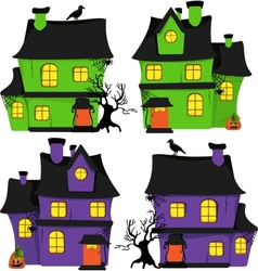 Halloween scrapbook design elements vector image