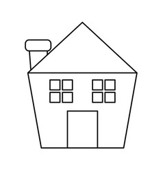 House or home with chimney icon image vector