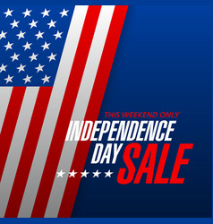 independence day sale banner design template vector image vector image