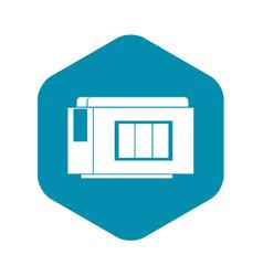 Inkjet printer cartridge icon simple style vector